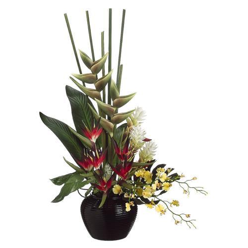 "46"" Artificial Tropical Flower & Oncidium Orchid Arrangement"