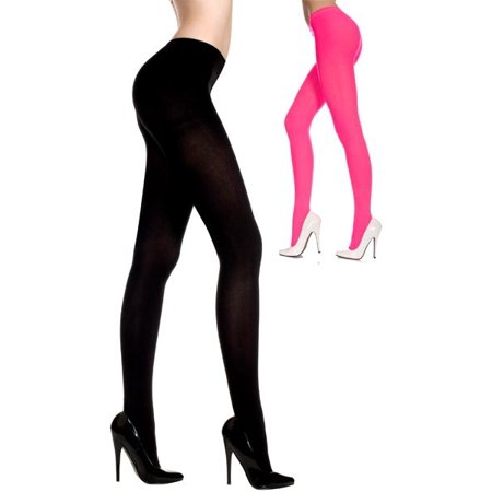 Womens Opaque Tights](Red Striped Tights)