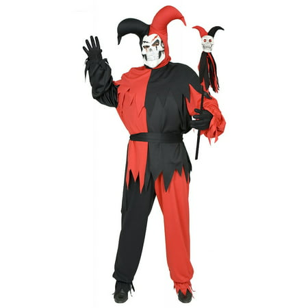 Wicked Chamber Jester Adult Costume Black and Red - Medium](Torture Chamber Ideas For Halloween)