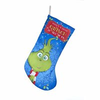 Kurt Adler 19-inch Dr. Seuss' The Grinch Young Grinch Printed Christmas Stocking