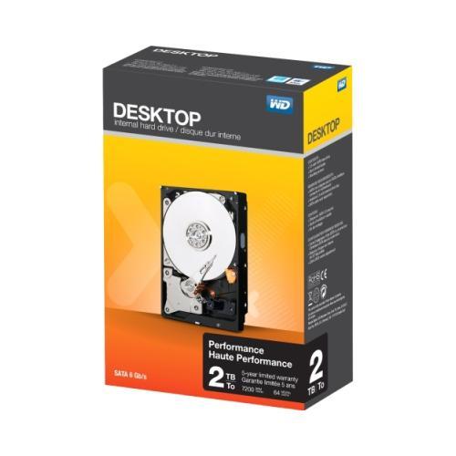 Wd 2 TB WD Desktop SATA 6 Gb/s 7200 RPM High-Performance Internal Hard Drive 2RG9970