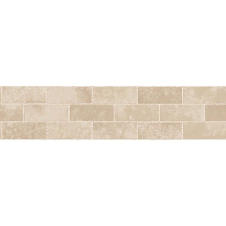 Fine Decor Cream Stone Tile Peel & Stick Border