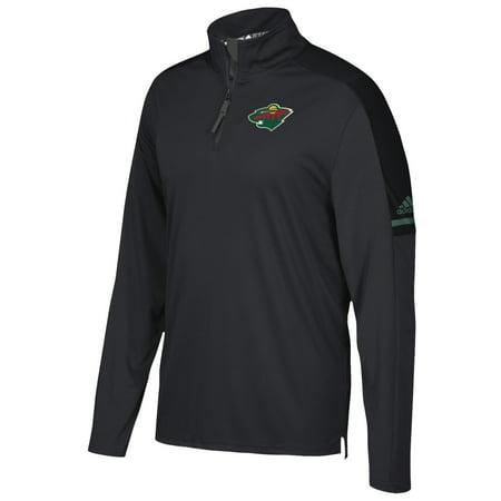 Minnesota Wild Adidas Nhl Mens 2017 Authentic Pro 1 4 Zip Wind Shirt