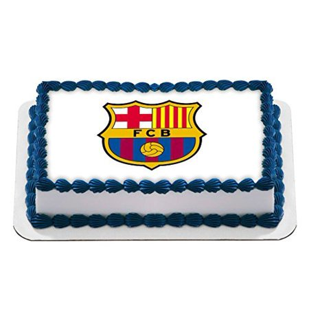- Barcelona Football Club Logo Barça Edible Cake Topper Personalized Birthday 1/4 Sheet Decoration Custom Sheet Birthday Frosting Transfer Fondant Image