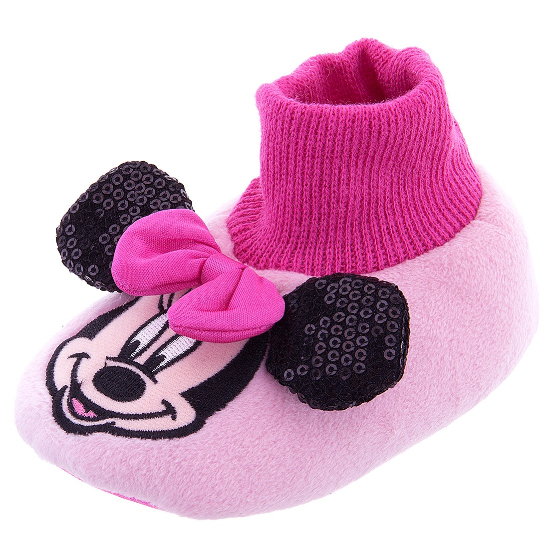 Girl's Disney® Minnie MNF204 Sock Top Slipper (Infant/Tod...