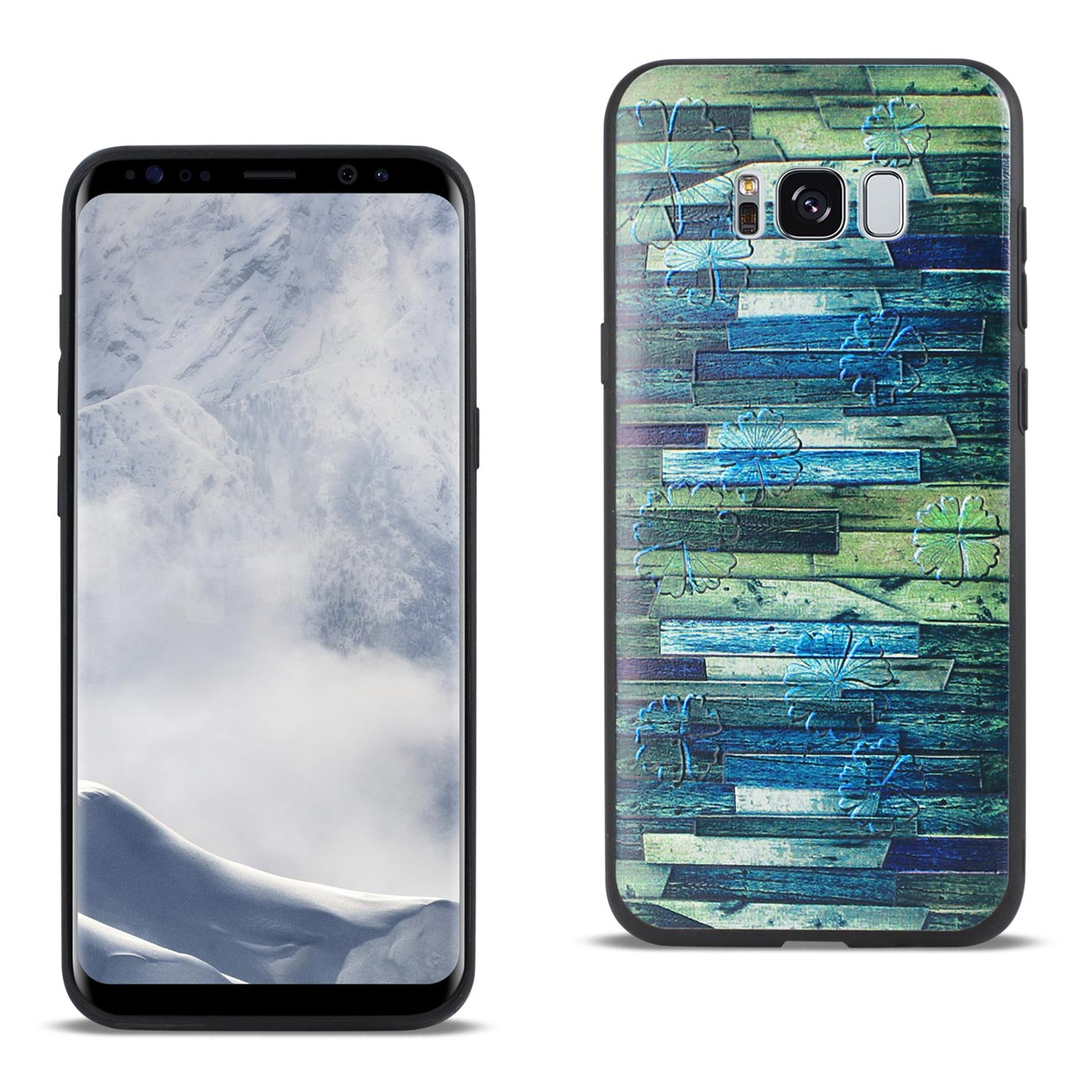 REIKO SAMSUNG GALAXY S8 EDGE EMBOSSED WOOD PATTERN DESIGN TPU CASE WITH MULTI-LETTER
