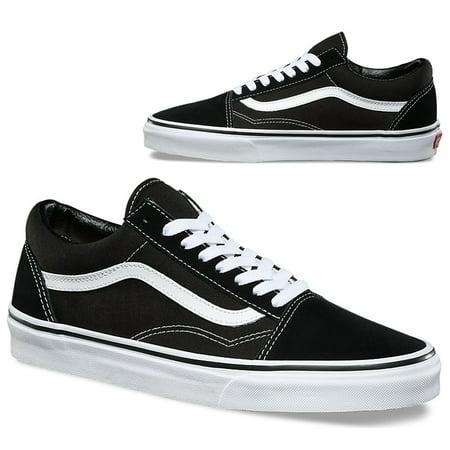 ddaf13e46a4e31 Vans - Vans Old Skool Black White Classics Skate Shoe Unisex Sneakers-US  Men 9.5 - Women 11 - Walmart.com