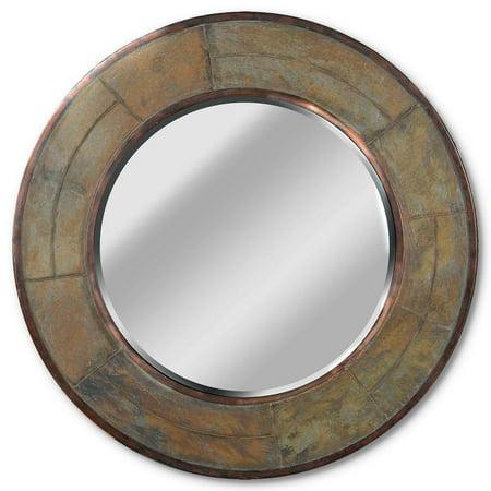 Keene Natural Slate Frame Wall Mirror - 32 diam.in.