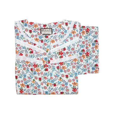 Womens Eyelet Trimmed Floral (Womens Butterfly Print Duster)