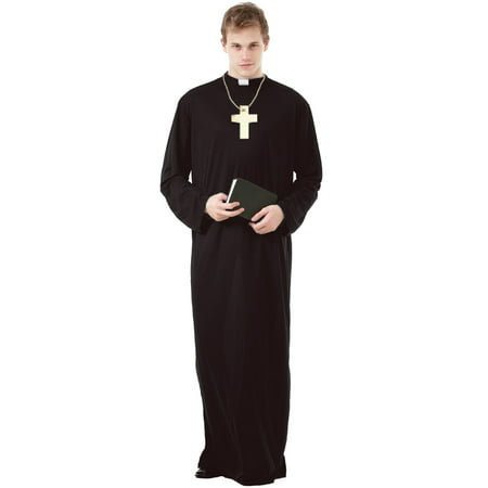 Boo! Inc. Prayerful Priest Men's Halloween Costume Catholic Cardinal Monk Friar Robes