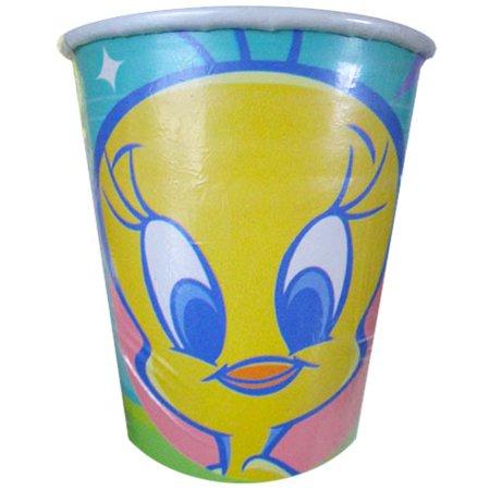 Looney Tunes Party Supplies (Looney Tunes 'Tweety Superstar' 9oz Paper Cups)