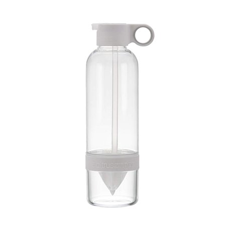 Clear Water Bottles Bulk (Citrus Zinger™ Sip by Zing Anything, Active Infusion Water Bottle, Citrus Fruit Infusion, BPA EA free Tritan®, Reusable Water Bottle, Hydration, Infusion Technology, Flip Up Straw Cap, 28 oz.,)