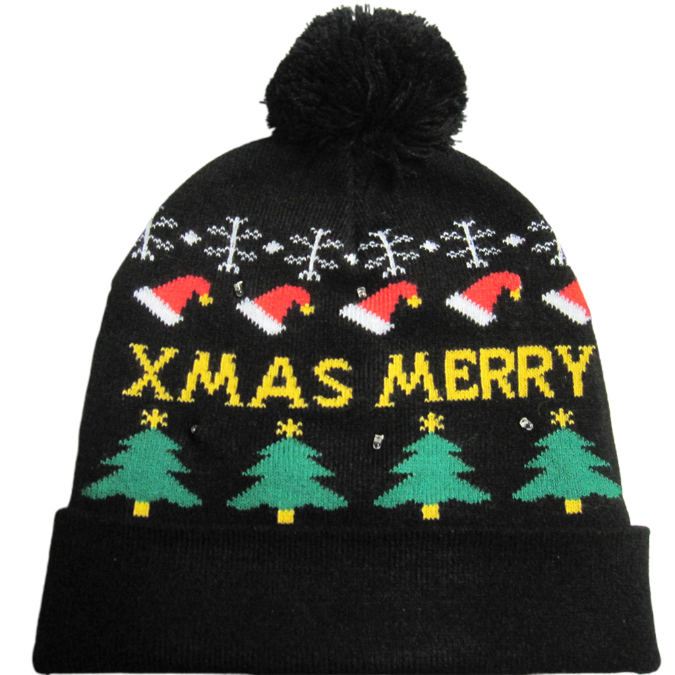 Children Autumn Winter Christmas Hat Adult Warm Lighting Knit Hat Xmas Gifts