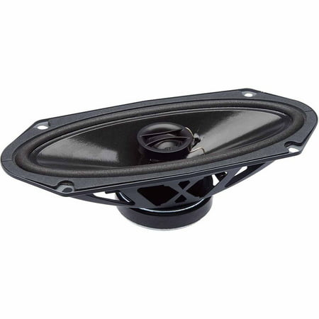 "PowerBass S-4102 4"" x 10"" Coaxial OEM Speakers, Set of 2, Black"