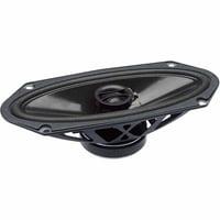 """PowerBass S-4102 4"""" x 10"""" Coaxial OEM Speakers, Set of 2, Black"""