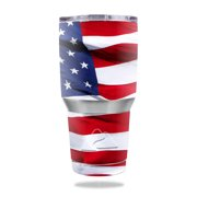 MightySkins Protective Vinyl Skin Decal for  30 oz Tumbler wrap cover sticker skins American Flag