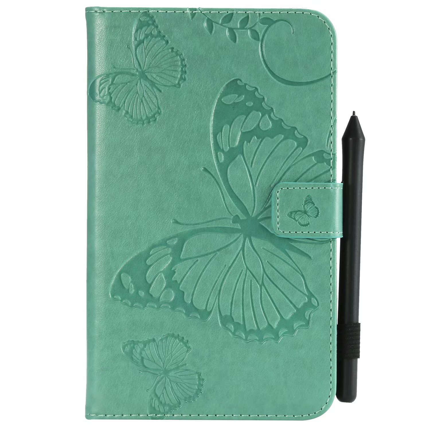 """Dteck Samsung Galaxy Tab A 7"""" T280 Tablet Case, Slim Butterfly Leather Stand Wallet Cover With Auto Wake Sleep"""