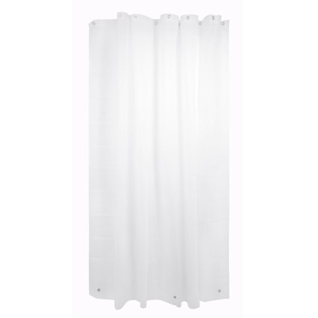 Enigma Mildew Free Shower Curtain Liner with Magnets, Frosted ...