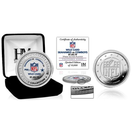 - Dallas Cowboys Highland Mint 2018 NFL Playoffs Wild Card Victory Silver Mint Coin - No Size