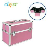 "Pro Large 19""  Aluminum Make Up Artist Cosmetic Travel Hard Case Studio Pink"