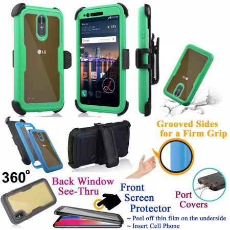 for LG Stylo 3 K10 PRO Stylus 3 + PLUS Case Phone Case 360° Cover Screen Protector Back Window Belt Holster Kick stand Armor Shock Bumper