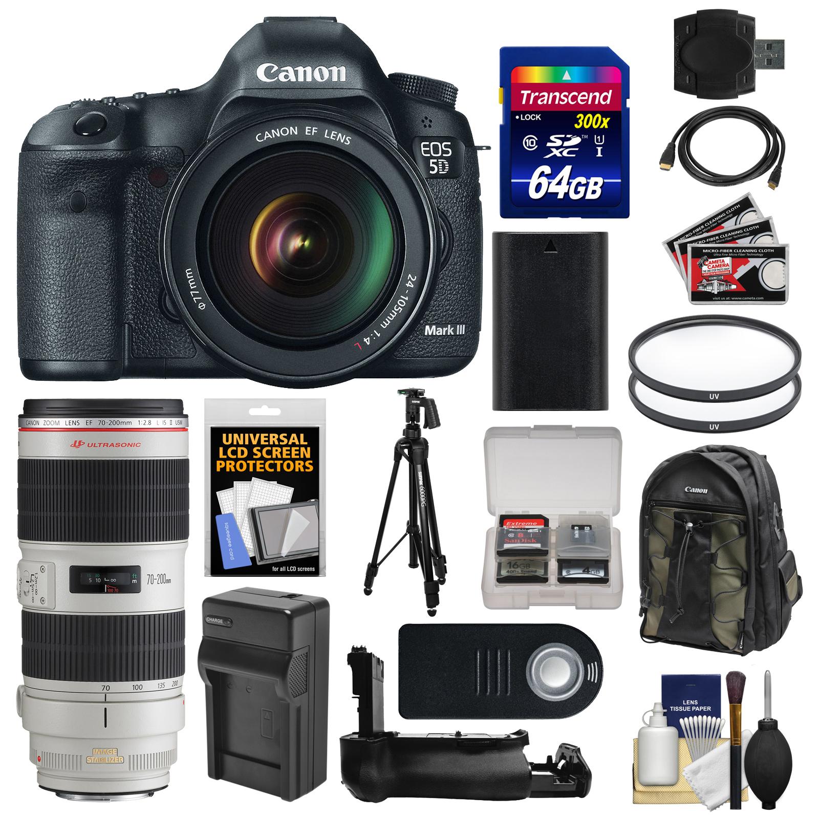 Canon EOS 5D Mark III Digital SLR Camera + EF 24-105mm L ...