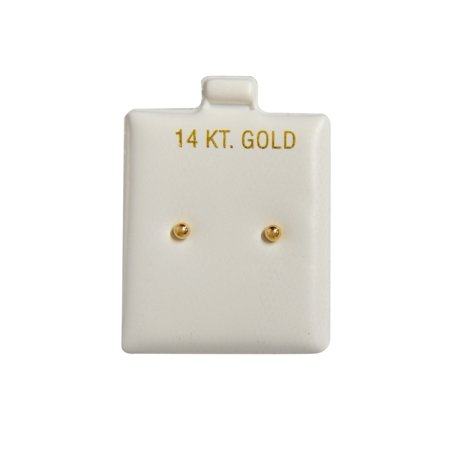 Lavari - 14k Yellow Gold Ball 2mm (Baby) Stud Earrings Silicone Backs