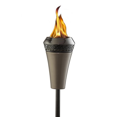 TIKI Brand Island King 66 inch Metal TIKI Stand up Torch with Large Flame and Easy Install Pole