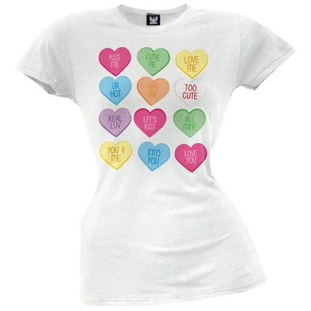 Candy Hearts Juniors T-Shirt Heart Juniors Shirt