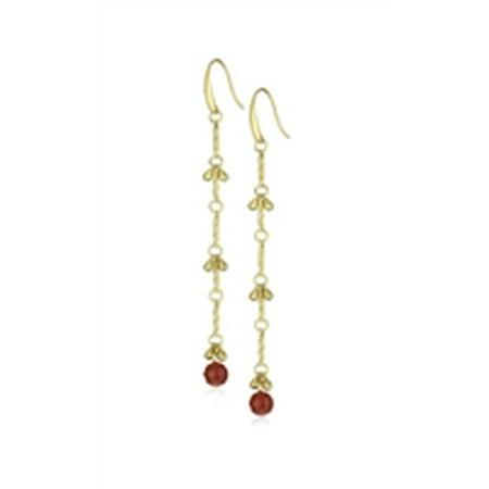 T.R.U. 1928 Jewelry Carnelian Linear Drop Chandelier Earrings, Antique Gold (Antique Chandelier Earrings)