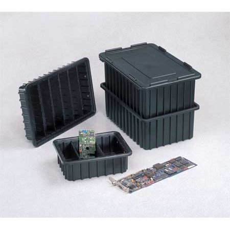 Lewisbins+ Divider Boxes (Lewisbins ESD Box Divider, Black)