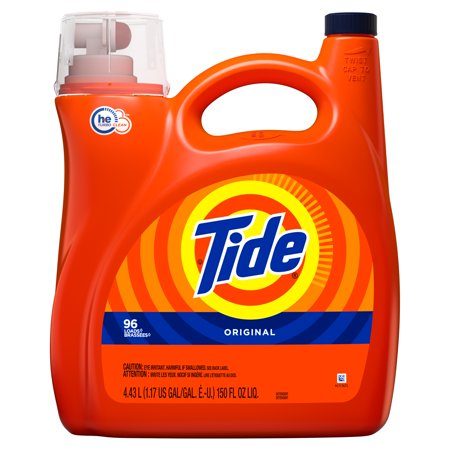 Tide HE Turbo Clean Liquid Laundry Detergent, Original, 96 Loads 150 fl oz - Roll Tide Colors