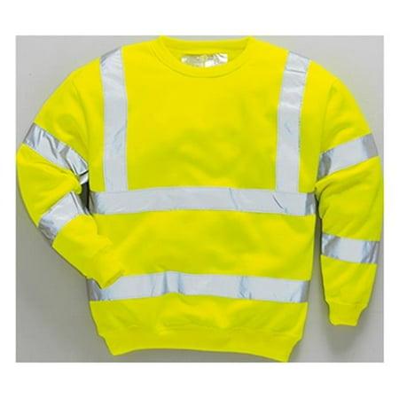 Portwest B303 Extra Large Regular Hi-Visibility Sweatshirt, Yellow - image 1 of 1