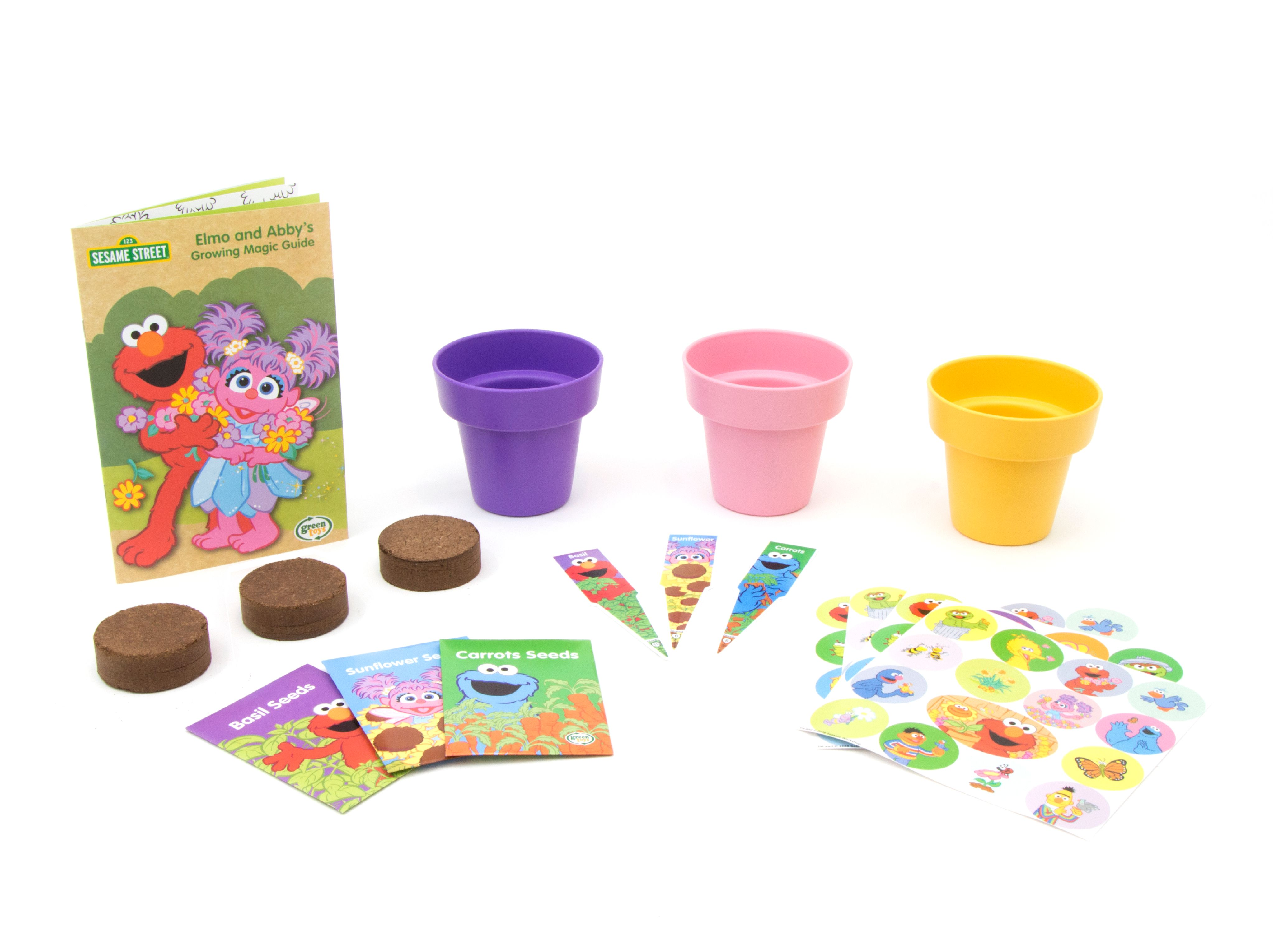 Green Toys Sesame Street Abby\'s Garden Planting Activity Set ...