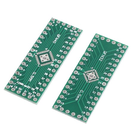 22Pcs QFN32 to QFP40 0.5mm Pitch Double Sides PCB Adapter Converter Plate - image 1 of 3