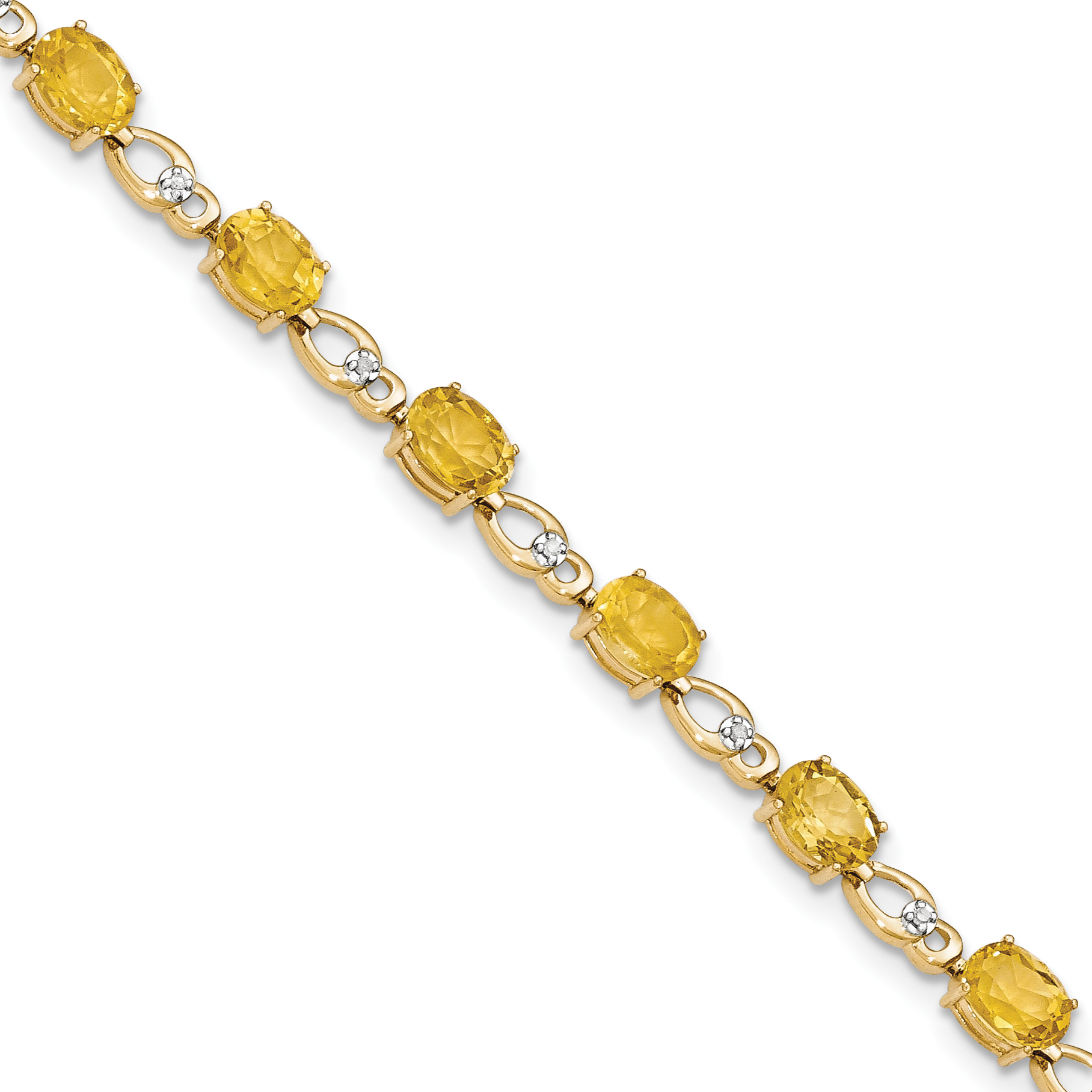 14k Citrine Diamond Bracelet by Core Gold