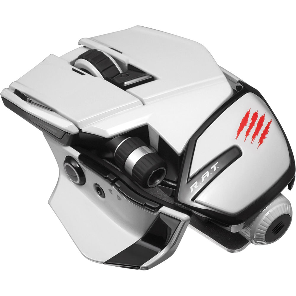 Mad Catz Office RAT Bluetooth Wireless Programmable PC & Android Mouse - White