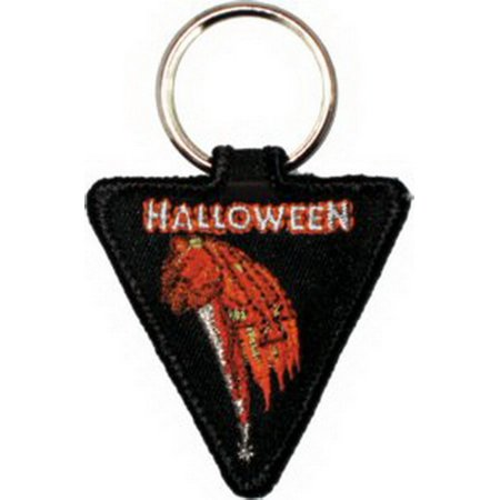 Halloween Pumpkin Knife Embroidered Keyfob Keychain KF-0300