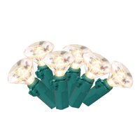 Stay Off the Roof Super Bright LED Christmas Lights Set - Warm White - Jewel Cut, 50-Piece - 13.25 ft Lighted Length, Connect up to 45 Sets - Holiday Pack