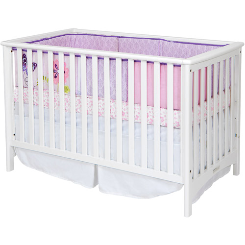 Child Craft London 2-in-1 Convertible Fixed-Side Crib, Matte White
