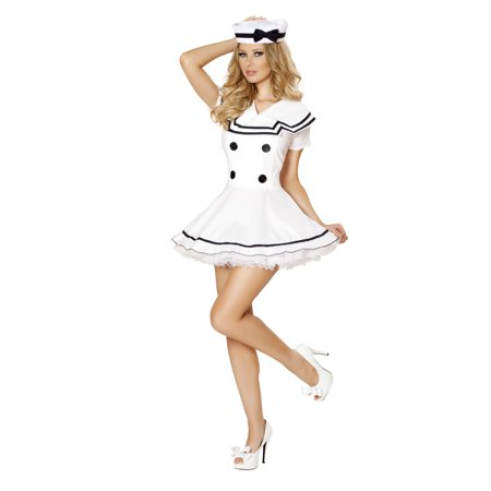 2pc Sexy Sailor Maiden - 4525-AS-XXL - White - image 2 of 2
