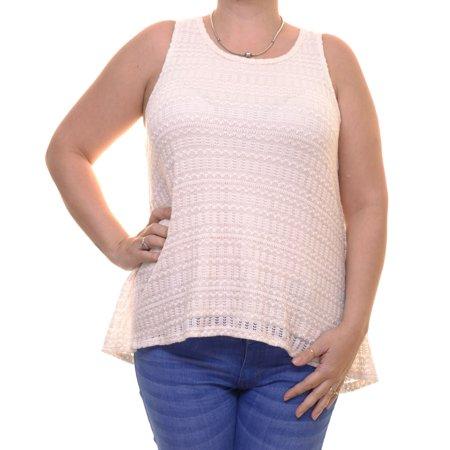 - Bar III Women's Knit Tulip-Back Eggnog Combo Tank Top Size L