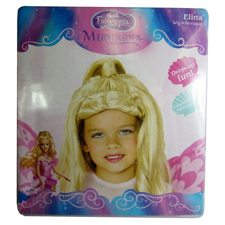 Rubie's Girls Barbie Fairytopia Elina Wig Mermaidia Accessory, Blonde, One Size (Barbie Mermaidia)