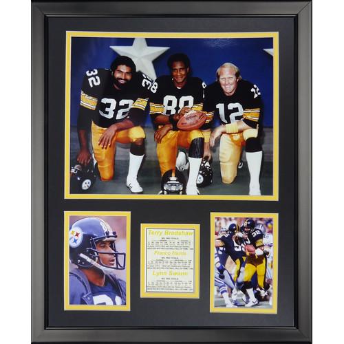 Legends Never Die NFL Pittsburgh Steelers - 1970s Posed Framed Memorabili
