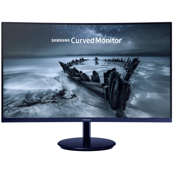 "Samsung C27H580 27"" Full HD 1920x1080 Curved Monitor, Glossy Blue-Black"