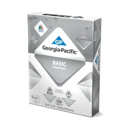 Georgia Pacific Basic Paper 85 X 11 20lb88 Bright 5000 Sheets