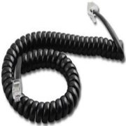 Panasonic 9 Ft. Black Handset Cord For KX-T7000/7100/7200/7400 Series Phones