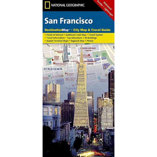 National Geographic Destination City Map  San Francisco: California