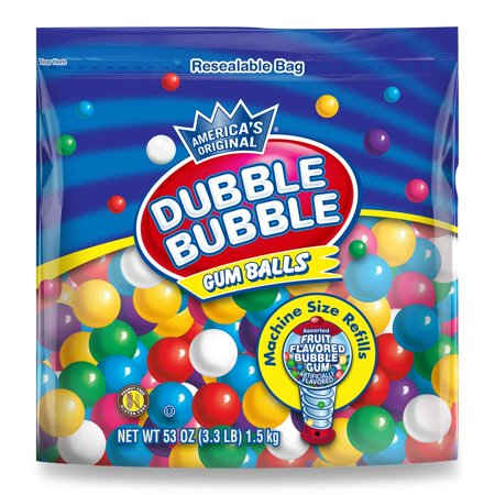 Dubble Bubble Gumball Refill, 8 Flavors, 3.3 lbs 3.3