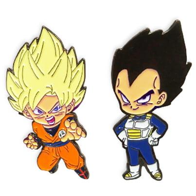 Great Eastern Entertainment Dragon Ball Super Anime Super Saiyan Goku &  Vegeta Metal Pins Set of 2
